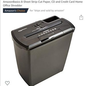 Brand New Amazon Paper Shredder
